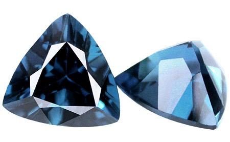 Topaze bleue London Blue  5x5x5mm (traitée)