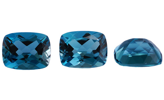 Topaze bleue London Blue calibrée 1.1ct (traitée)