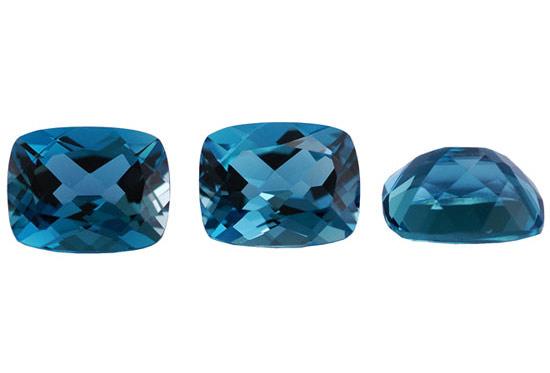 Topaze bleue London Blue 8x6mm (traitée)