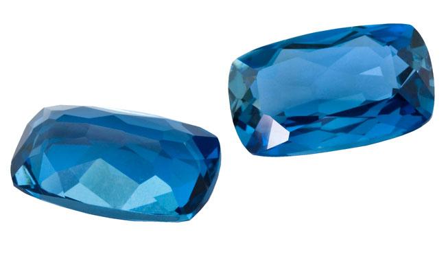 Topaze bleue London Blue calibrée 4.05ct (traitée)