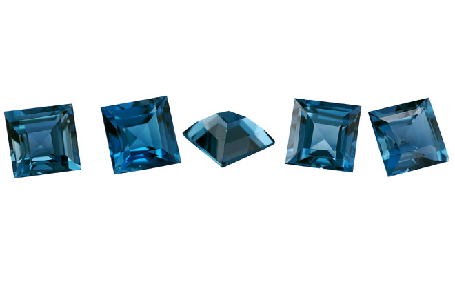 Topaze bleue London Blue calibrée 1.4ct (traitée)