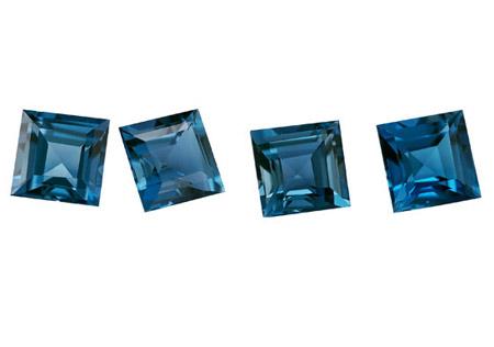 Topaze bleue London Blue calibrée 2.97ct (traitée)