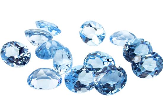 Topaze bleue Sky Blue calibrée 1.7ct (traitée)
