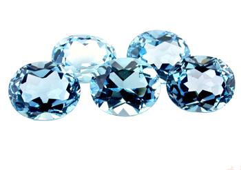 Topaze bleue Sky Blue calibrée 6.1ct (traitée)
