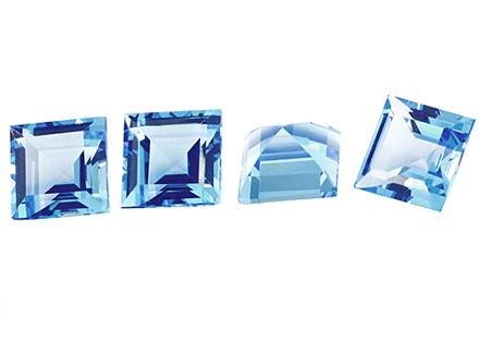 Topaze bleue Sky Blue carrée 5mm