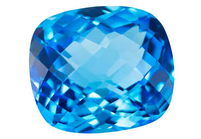 Topaze bleue Swiss Blue (traité) 30.42ct