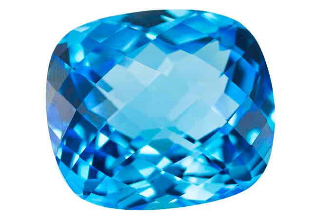Topaze bleue Swiss Blue (traité) 54.9ct