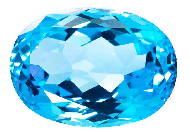 Topaze bleue Swiss Blue (traité) 18.47ct