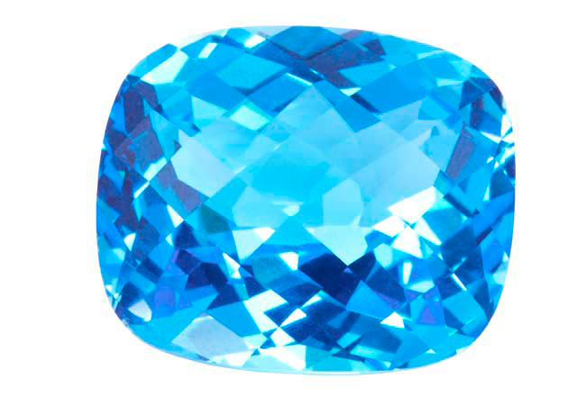 Topaze bleue Swiss Blue  (traitée) 28.33ct