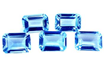 Topaze bleue Swiss Blue calibrée 2ct (traité)