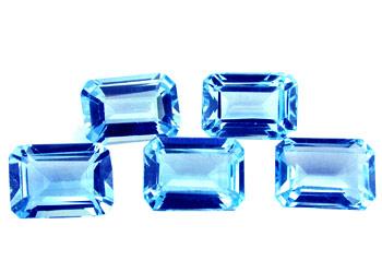 Topaze bleue Swiss Blue calibrée 7.8ct (traité)