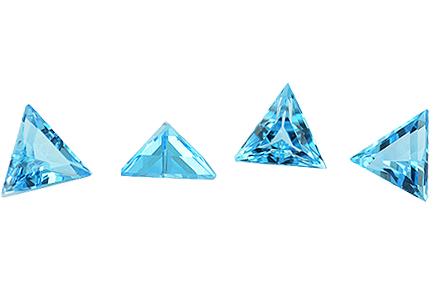 Topaze bleue Swiss Blue calibrée 1.78ct (traité)