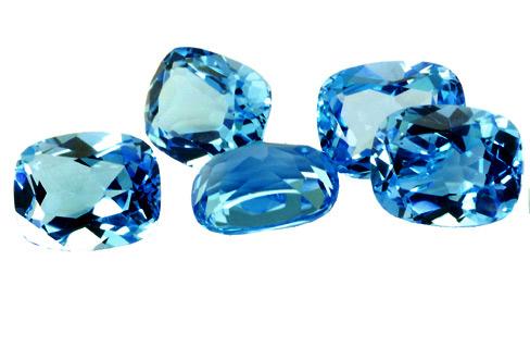 Topaze bleue Swiss Blue calibrée 1.7ct (traité)