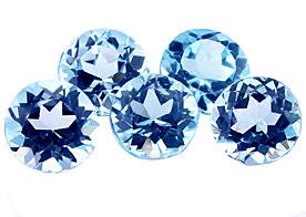 Topaze bleue Swiss Blue (traité) 1ct