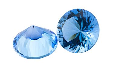 Topaze bleue Swiss Blue calibrée 0.01ct (traité)