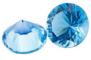 Topaze bleue Swiss Blue calibrée 1.07ct (traité)