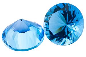 Topaze bleue Swiss Blue calibrée 1.38ct (traité)