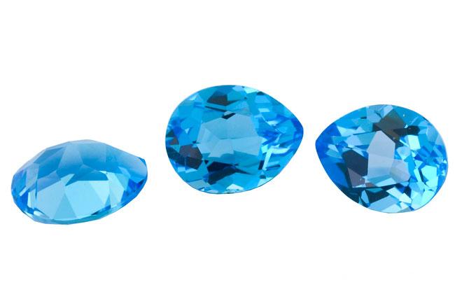 Topaze bleue Swiss Blue calibrée 0.79ct (traité)