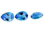 Topaze bleue Swiss Blue calibrée 2.5ct (traité)