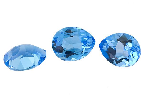 Topaze bleue Swiss Blue calibrée 2.7ct (traité)