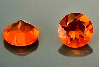 #OpaleDeFeu #FireOpal #round #orange #4.5mm