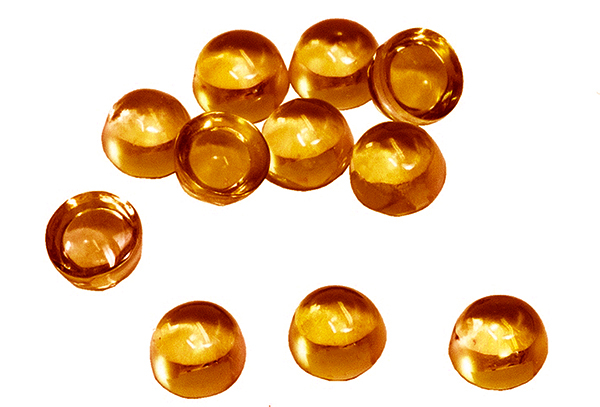 Citrine cabochon 10 mm
