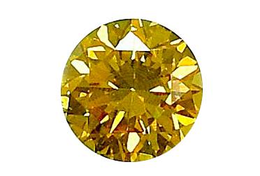 "Diamant jaune ""natural fancy intese yellow"" 0.33ct"