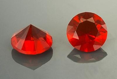 Opale de feu rouge 5.10 mm
