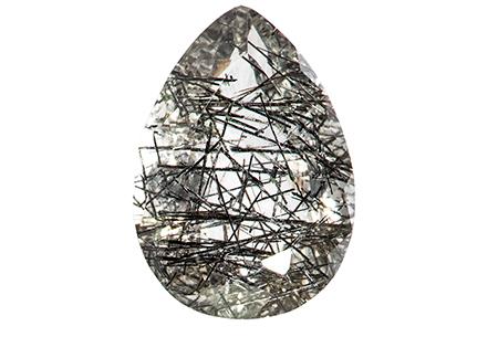 Quartz - tourmaline noire - 4.84ct