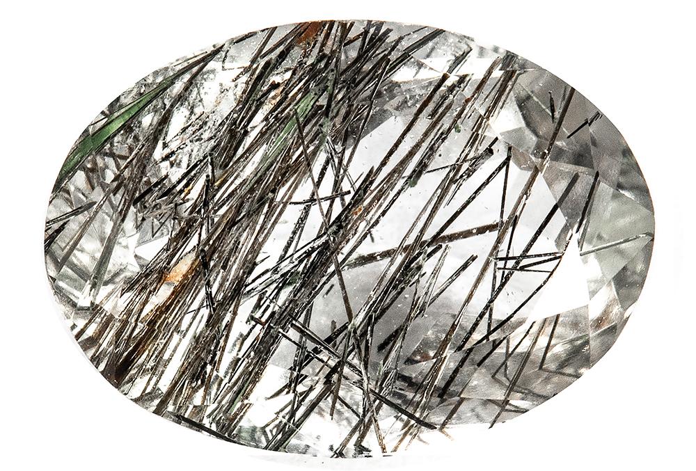 Quartz - tourmaline noire - 5.61ct