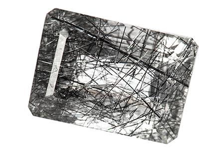 Quartz - tourmaline noire - 6.13ct