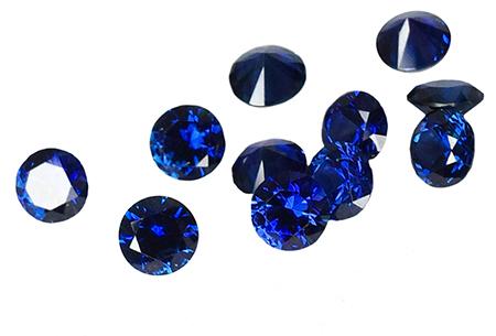 Saphir bleu rond  1.20mm