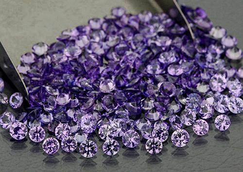 Saphir violet rond 3,3mm