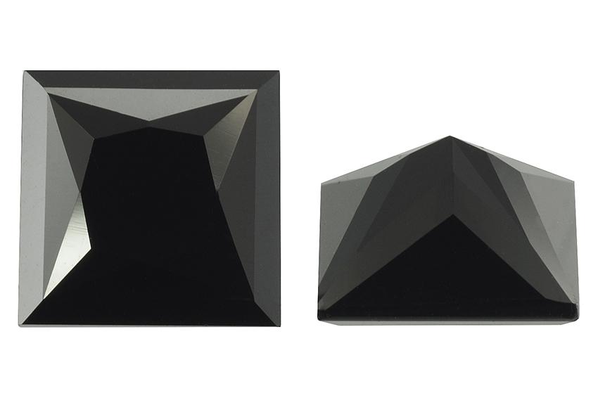 Spinelle noir calibré carré 2,5mm