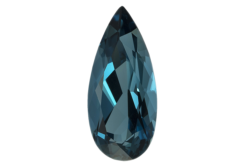 Topaze bleue London Blue calibrée 12.35ct (traitée)