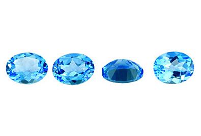 Topaze bleue Swiss Blue (traitée)