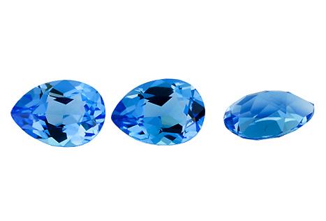 Topaze bleue Swiss Blue calibrée 12.8ct (traitée)