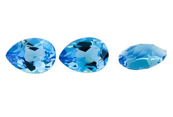 Topaze bleue Swiss Blue calibrée 9.25ct (traitée)