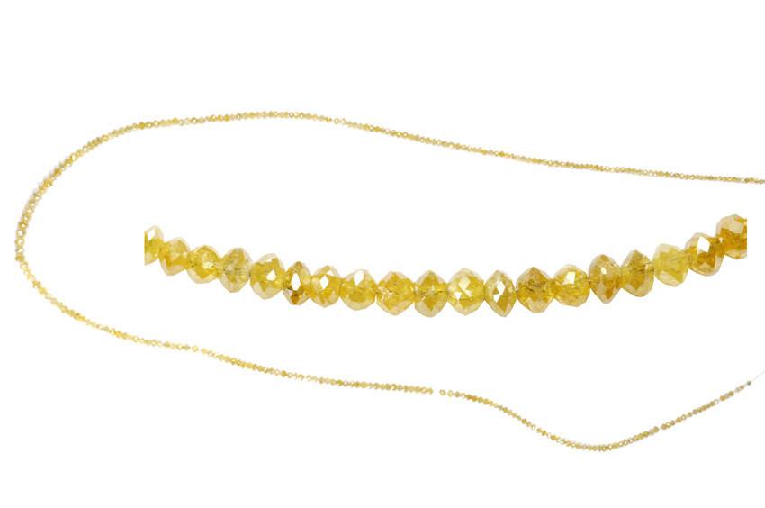 Collier de diamants jaunes