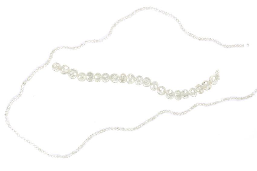 Collier de diamants blancs