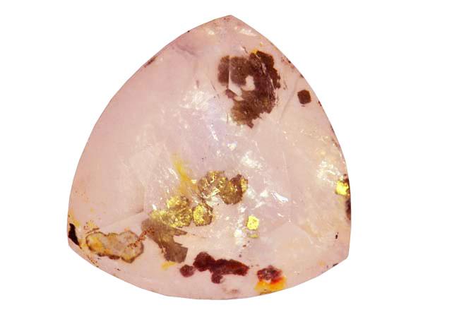 Quartz rose à pyrite