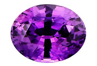 Saphir violet non chauffé