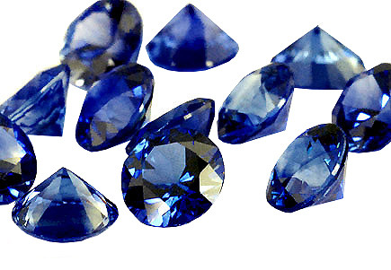 Saphir bleu rond (calibré)