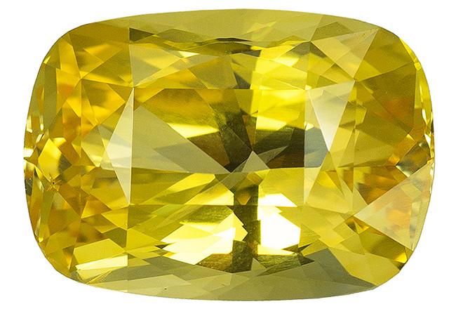 Saphir jaune non chauffé