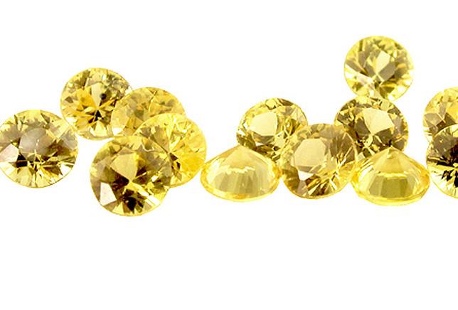 Saphir jaune (rond calibré)