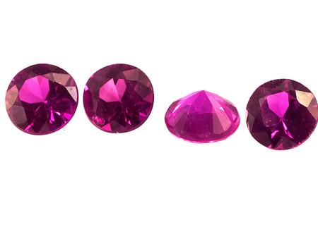 Saphir rose pourpre (rond-calibré)