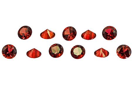 Saphir orange-rouge (rond calibré)