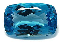 Topaze bleue Swiss Blue (traité)
