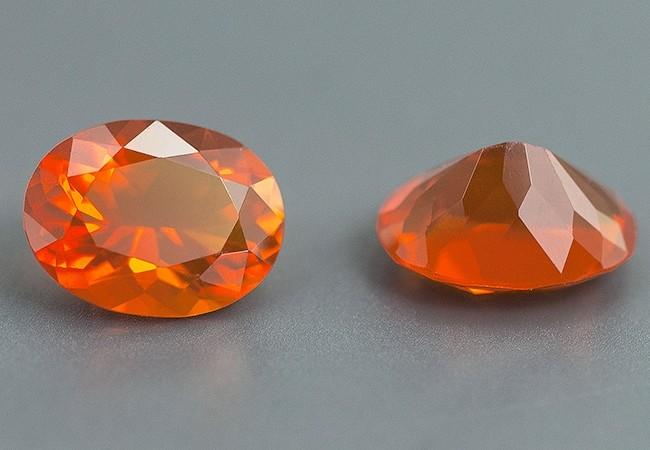 Opale de feu orange