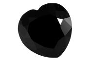 Spinelle noir calibré forme cœur 18mm